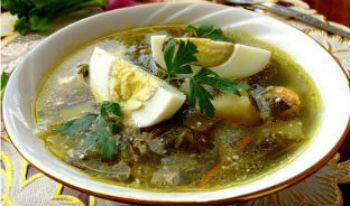 σούπα πράσινο μπορς