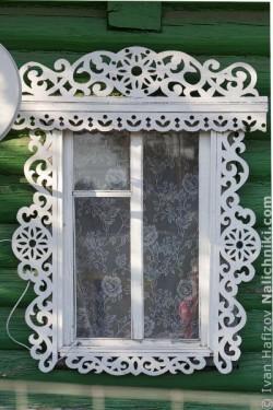 Ρωσικό σκαλιστό παράθυρο στο Γιούχνοφ.