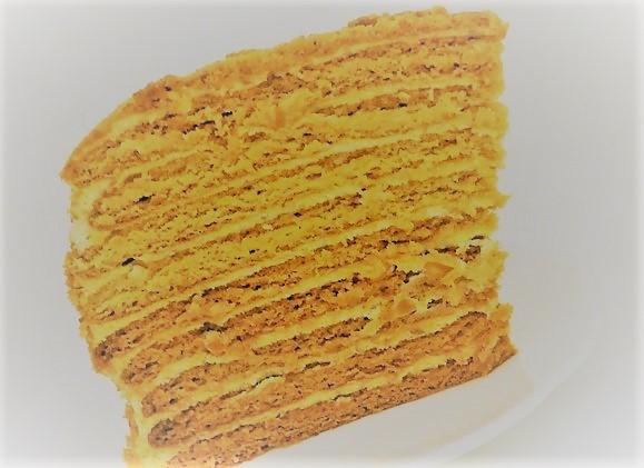 Τούρτα με μέλι και κρέμα